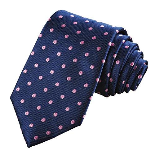 Polka Dot Navy Purple Classic Men Tie Formal Suit Necktie Holiday Giftkt1043 (Necktie Suit)
