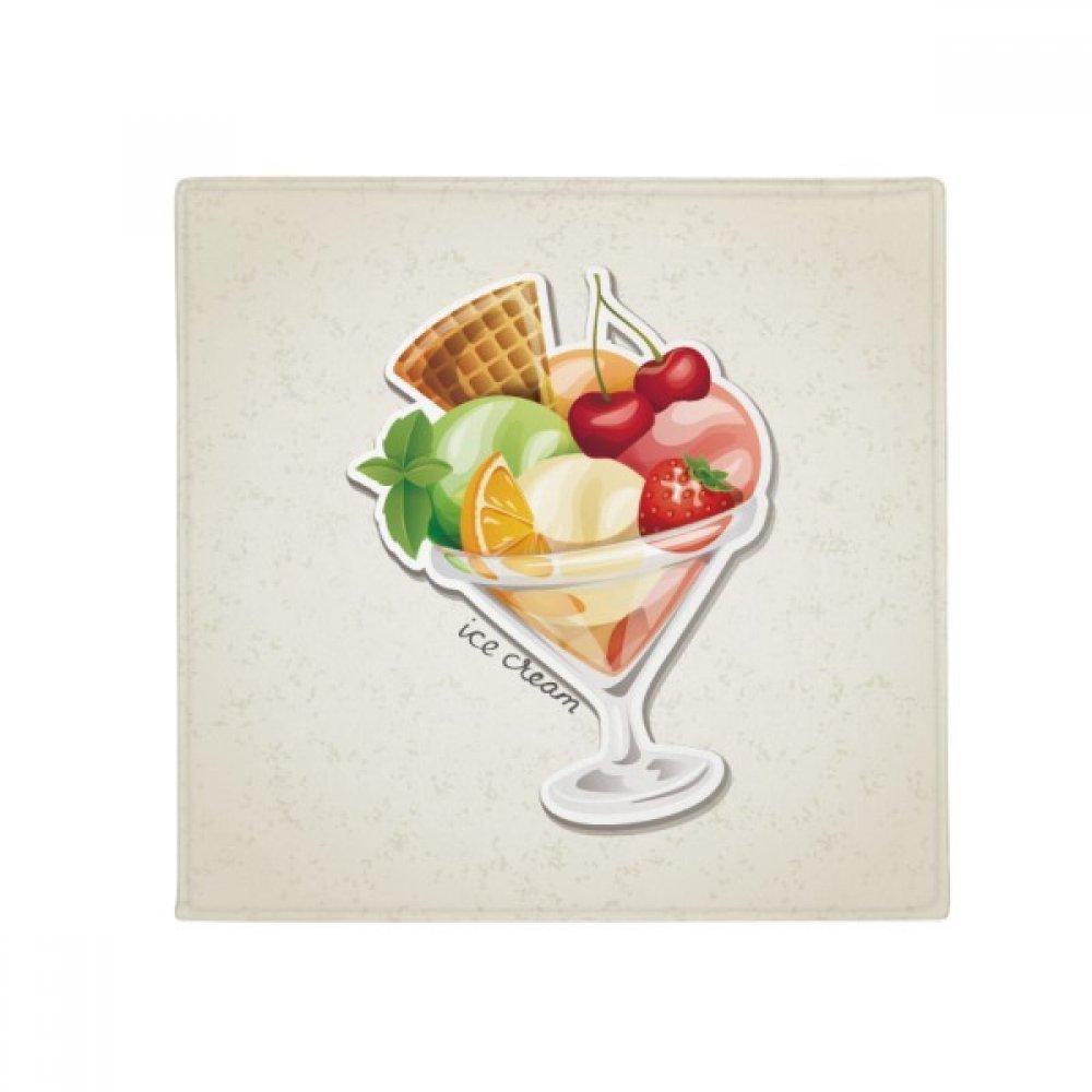 DIYthinker Cherry orange Strawberry Fruit Sweet Ice Cream Anti-Slip Floor Pet Mat Square Home Kitchen Door 80Cm Gift