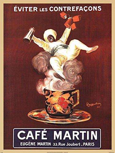 Cafe Cappiello Leonetto - Cafe Martin by Leonetto Cappiello Art Print, 23 x 30 inches