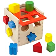 Wooden Wonders Smart Shapes Sorting Cube (12pcs.) by Imagination Generation