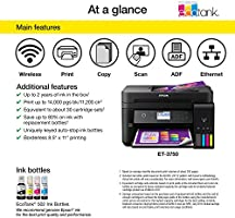 Amazon.com: Epson WorkForce ET-3750 Impresora multifunción a ...