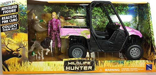 Wildlife Hunter Pink Camo Bird Hunting Playset - Female Hunter ATV Bird Dog and Ducks ()