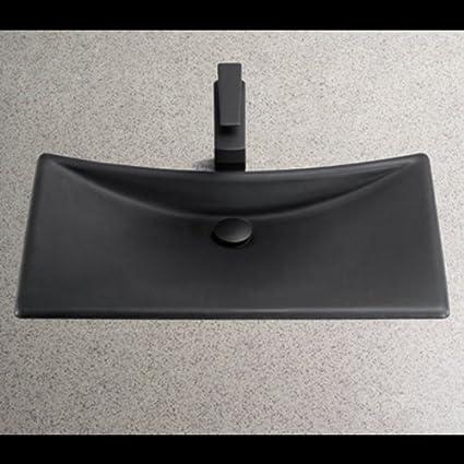 TOTO FLT132 80 Waza Noir Cast Iron Lavatory Sink, Matte Black