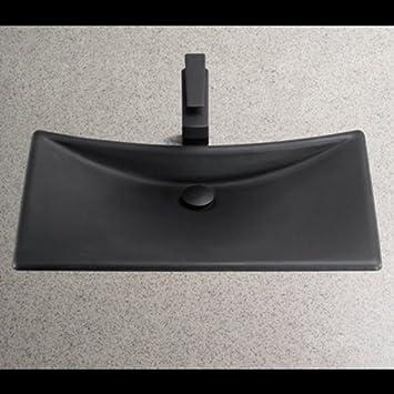 TOTO FLT132 80 Waza Noir Cast Iron Lavatory Sink  Matte Black. TOTO FLT132 80 Waza Noir Cast Iron Lavatory Sink  Matte Black