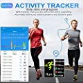 goopow Fitness Tracker, Activity Tracker Watch with Heart Rate Monitor, Waterproof Smart Fitness Band with Step Counter, Calorie Counter, Pedometer Watch Kids Women and Men