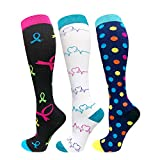 1/3/6/7 Pairs Compression Socks for Women&Men (20-30mmHg) -Best for Running, Travel,Cycling,Pregnant,Nurse, Edema