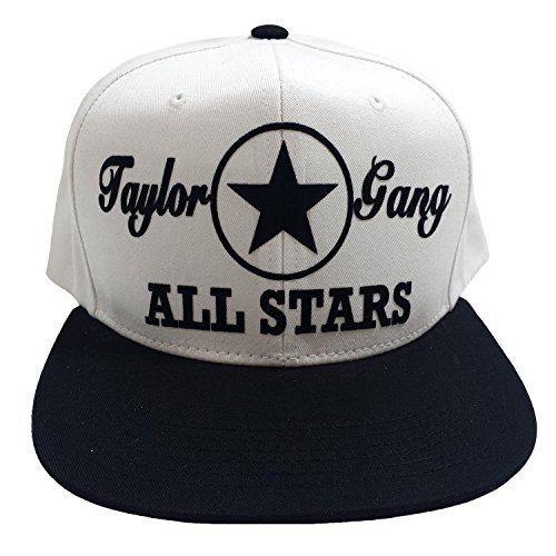 59729a67d Taylor Gang All-Stars White/Black Flock Snapback Hat Cap