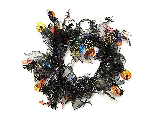 Midlee Pumpkin & Spider Web Halloween Decorative Dog Collar -