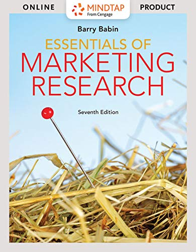 MindTap Marketing for Babin's Essentials of Marketing Research, 7th Edition [Online Code] by Cengage Learning