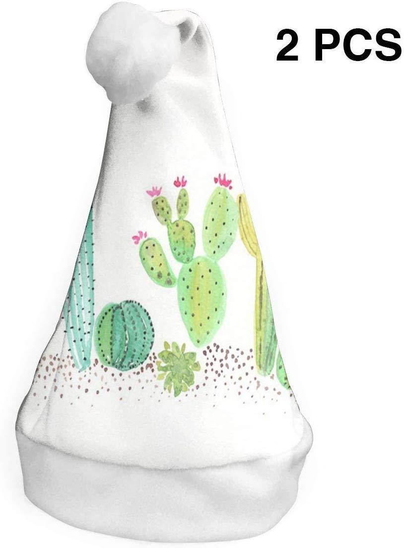 Sombreros de Navidad Paquete de 2 Desierto en Flor Cactus Acuarela ...