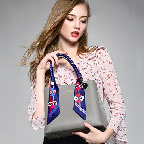 High Jiute Shoulder Fashion Pink Portable Summer Ms Female Bag Gray Wild Capacity Messenger Korean color BBw1pqvr