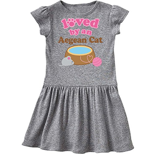 Aegean Heather - inktastic - Aegean Cat Breed Owner Infant Dress 12 Months Heather Grey 110cc