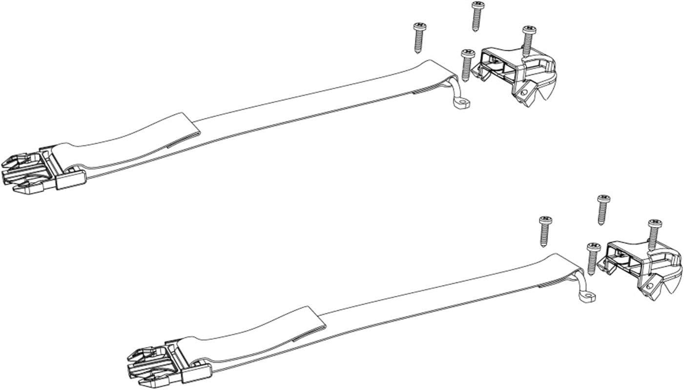 Bak Industries PARTS-356A0003 BAKFlip Buckle Kit Underside Buckle Ends w//Hardware BAKFlip Buckle Kit