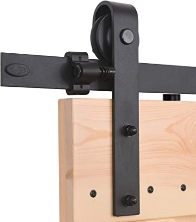 183 cm Poign/ée de porte coulissante syst/ème de porte coulissante pour portes coulissantes et armoires murales rail coulissant