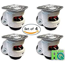 Caster Barn - Retractable Leveling Machine Casters - 4 Pack - 2,400 lbs Per Set