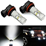 JDM ASTAR Extremely Bright GX-3020 Chipsets H11 H8 LED Bulbs with Projector for DRL or Fog Lights, Xenon White (H11 H8)