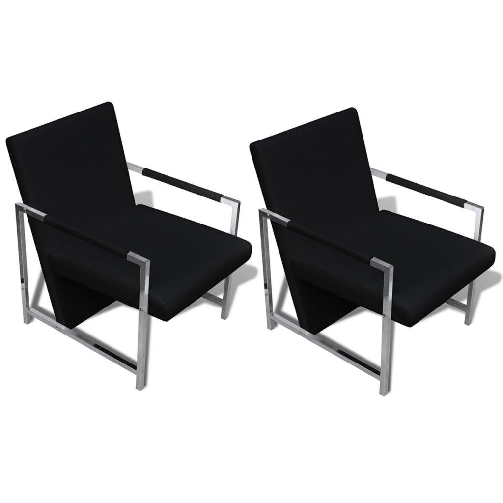 Festnight 2 Stücke Sessel Relaxsessel Armsessel Würfelsessel Stühle Wohnzimmersessel Sitzkomfort Weiß