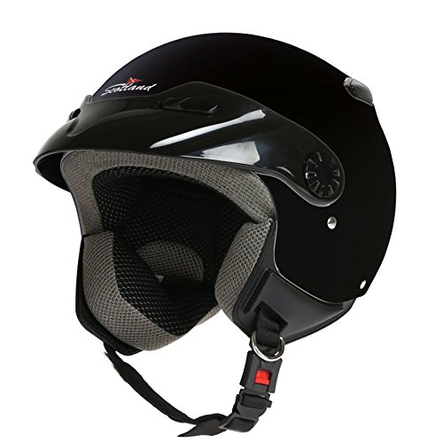 Amazon.es: Rodeo Drive - Casco para moto, modelo Easy, color negro, talla M