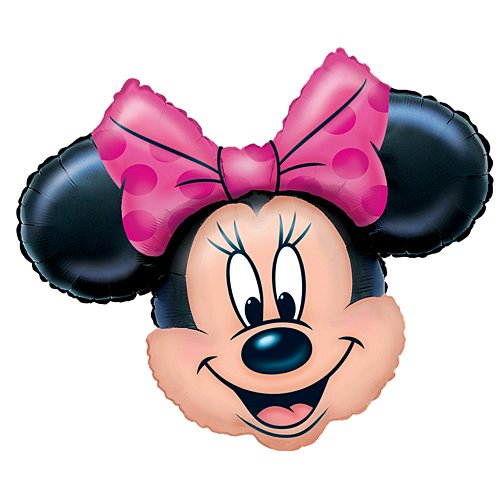 Anagram Minnie Mouse Head 28 Inch Jumbo Foil Balloon]()