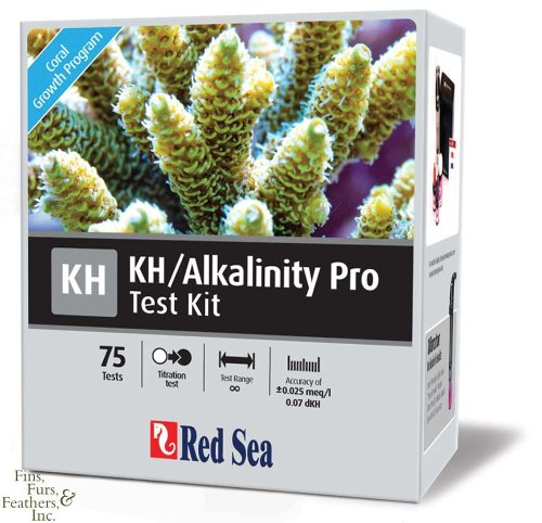 Red Sea Fish Pharm ARE21410 Saltwater KH/Alkalinity Pro Test Kit for Aquarium, 75 Tests