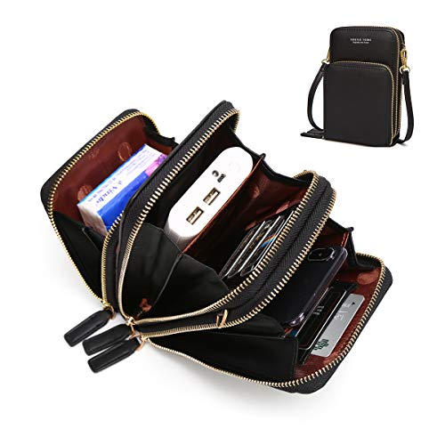 Small Leather Crossbody Phone Bags for Women with Card Slots, 6.5