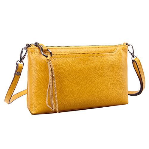 Iphone Fit Shoulder Clutch Wallet Crossbody Bag Women's Missmay Leather Plus Messenger 6 Purse Yellow zfx0wv5Bq