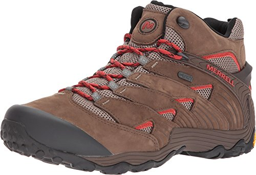 Merrell Men's Chameleon 7 MID Waterproof Hiking Shoe, Boulder, 10.5 M US