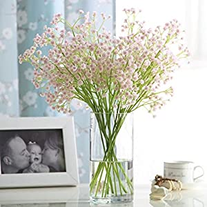 XHSP Artificial Babybreath White Gypsophila Home Wedding Decoration Real Touch Artificial Flowers 10 pcs/lot 49