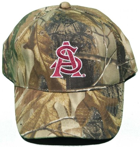 - NEW! Arizona State University Sun Devils Buckle Back Hat Embroidered Camo Cap