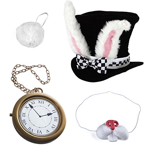 White Rabbit Costume - Rabbit Costume - Bunny Costume (4 Pc Costume) by (White Rabbit Alice In Wonderland Costume Men)