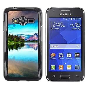 TopCaseStore / la caja del caucho duro de la cubierta de protección de la piel - Nature Beautiful Forrest Green 42 - Samsung Galaxy Ace 4 G313 SM-G313F