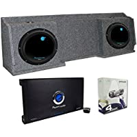 2) Planet Audio AC12D 12 Subs + Chevy Silverado Ext 99-06 Box + Amp + Wiring