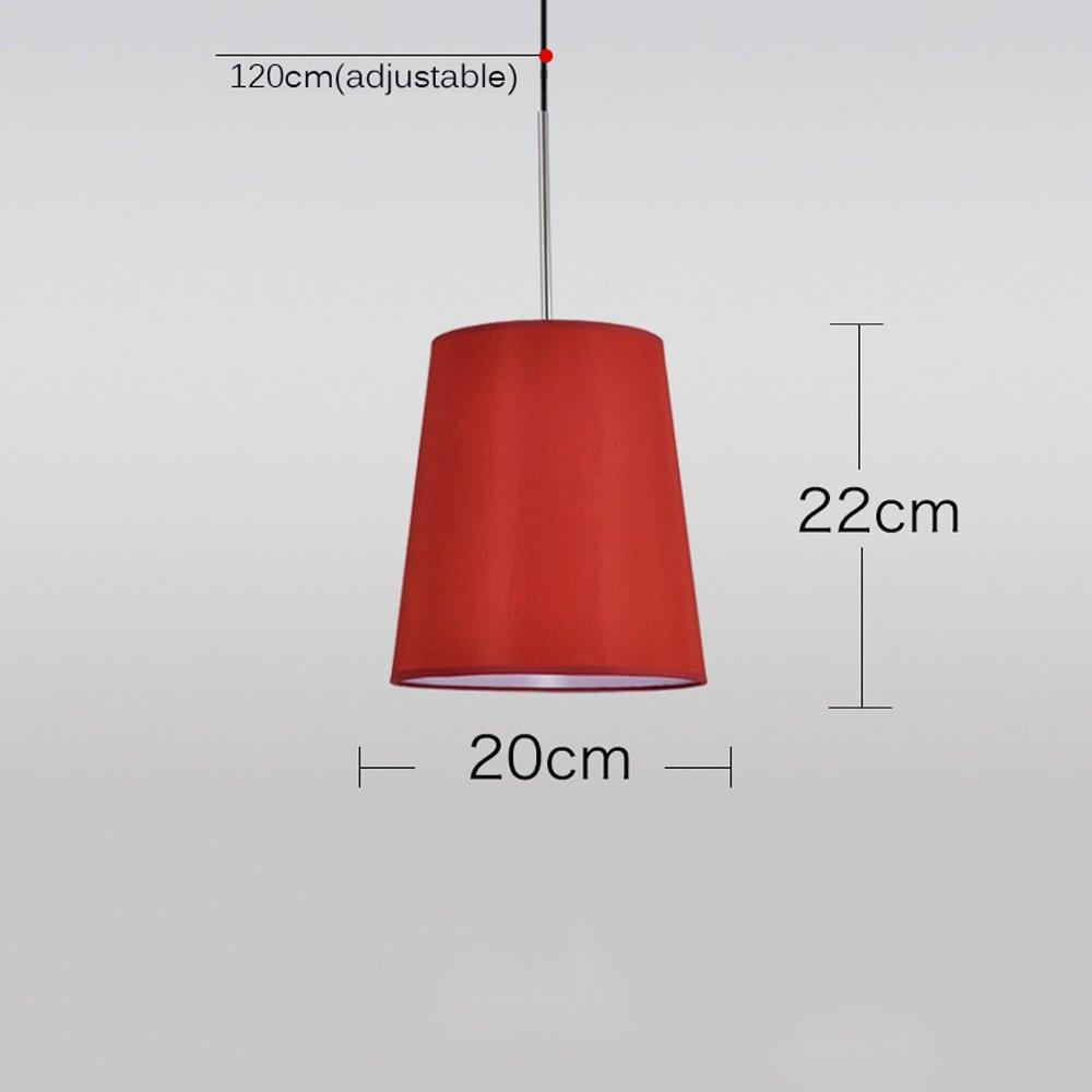 Vampsky Lámpara de Tela Circular Creativo Moderno Sombra Colgante de luz Colchones Redondos de cabecera Sencillos Nordic Single Head Bar Dormitorio Arte ...