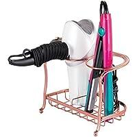 mDesign Metal Bathroom Vanity Countertop Hair Care &...