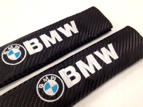 BMW Carbon Fiber Seat Belt Cover Shoulder Pad Cushion (2 pcs)