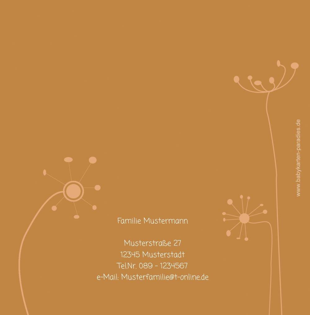Kartenparadies Danksagung für Geburt Baby Dankeskarte Dankeskarte Dankeskarte abstrakte Blaumen, hochwertige Danksagungskarte Baby inklusive Umschläge   100 Karten - (Format  145x145 mm) Farbe  Orange B01N39UEHW | Vorzugspreis  | Ausgezeichneter Wert  | Haltbarer Ser cdf94d