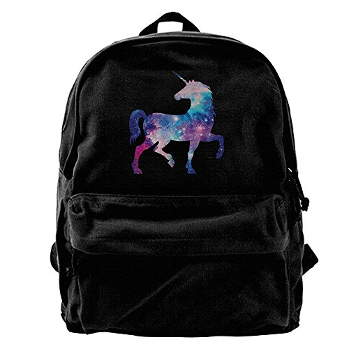 Universe Unicorn Mens&womens Large Vintage Canvas Backpack School Laptop Bag Hiking Travel (Ex Stores Mens Cotton)