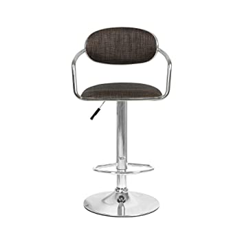 Mano Home Art Bar Stool Rattan Weave Seating, Bar Chair Backrest Height Adjustable Spin Coffee