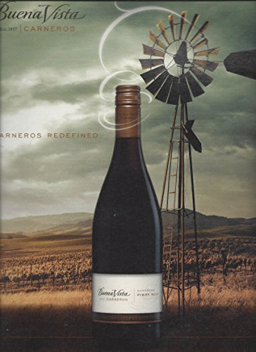 MAGAZINE AD For 2009 Buena Vista Carneros Pino Noir Wine Windmill Scene
