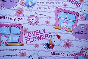 8587bcfd9 Image Unavailable. Image not available for. Color: Gift Wrapping Paper - Hello  Kitty F
