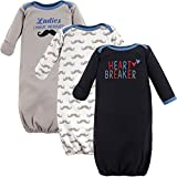 Luvable Friends Unisex Baby Cotton Gowns, Heartbreaker, 0-6 Months US