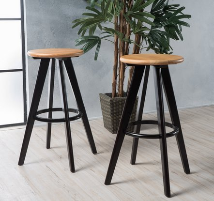 Christopher Knight Home 299908 Judd Natural Finish Wood Bar Stools (Set of 2) ()