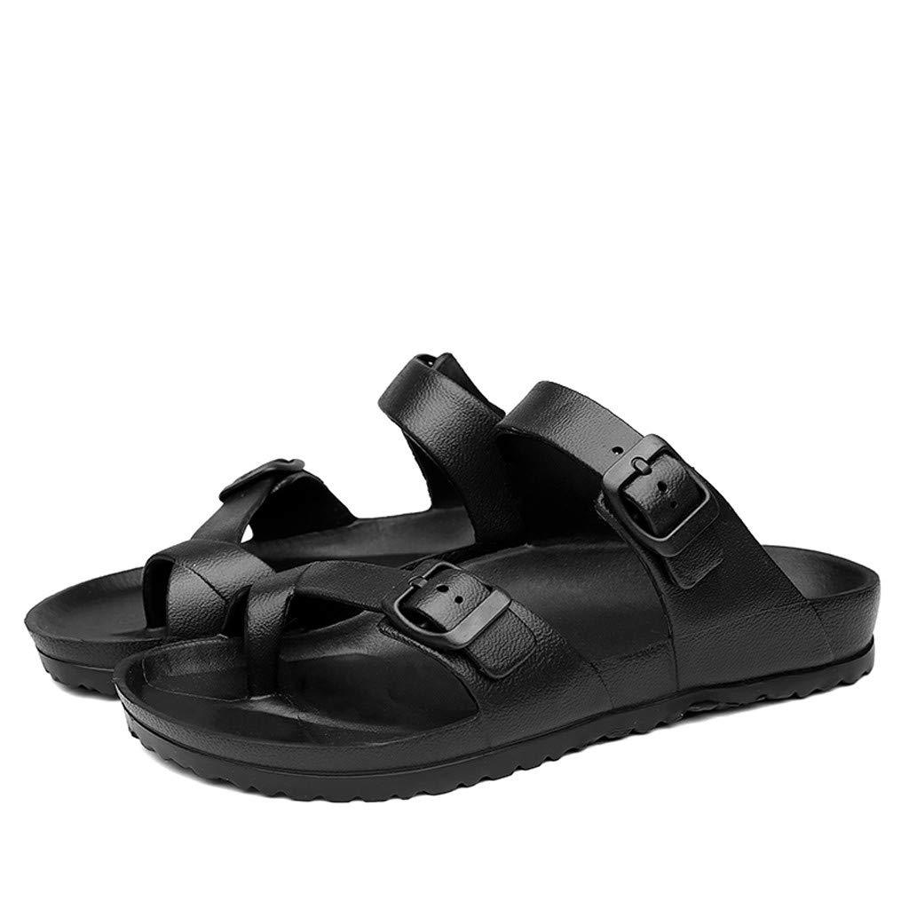 Couple Fashion Flip-Flops Sandals HULKAY Mens//Womens Slingback Yoga Flip Flop Casual Flats Sandals Beach Slipper