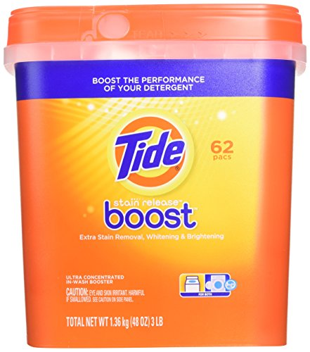 Tide Stain Release Boost Duo Pac In-Wash Booster, 62 Count Pouches by Tide