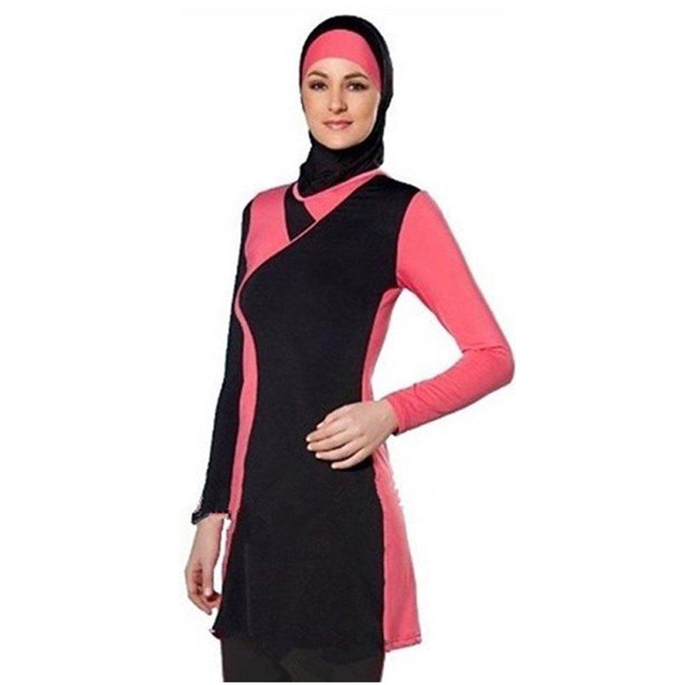1c82fb9253523 YONGSEN Muslim Modest Swimwear Islamic Swimsuit For Women Full Coverage Hijab  Beachwear Burkini at Amazon Women s Clothing store