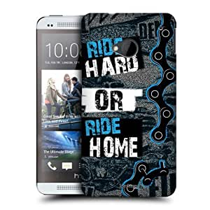 Head Case Designs Ride Hard or Ride Home Live BMX Protective Snap-on Hard Back Case Cover for HTC One by ruishername