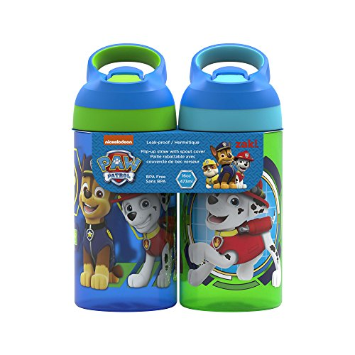 Zak Designs PWPP-T470 Paw Patrol Water Bottles, 16 oz, Marshall, Skye, Zuma, Rubble & Chase ()