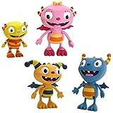 Disney Henry Hugglemonster Summer,Ivor, Henry & Cobby 4 Figure Pack