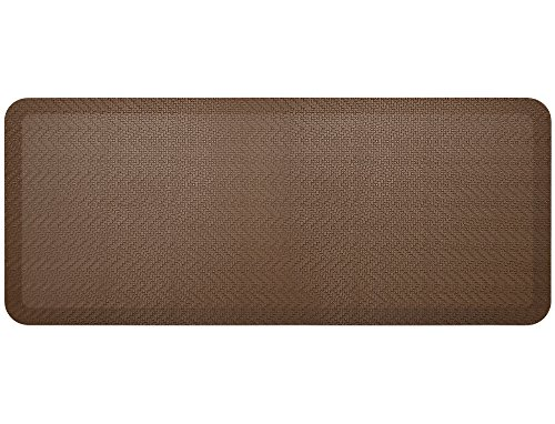 """NewLife by GelPro Anti-Fatigue Designer Comfort Kitchen Floor Mat, 20x48"""", Sisal Buffalo Stain Resistant Surface with 3/4"""" Thick Ergo-foam Core for Health and Wellness"""