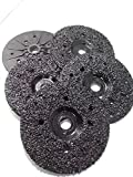 5 Pack of Ultra Zek Wheels GRIT 8 Grinding Silicon Carbide Heavy Duty Discs Threaded 5/8''-11 - Diameter 4.5''